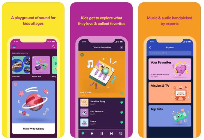 Spotify Kids (screeny z aplikacji)