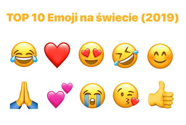 Oto 10 najpopularniejszych obecnie ikon emoji (2019)