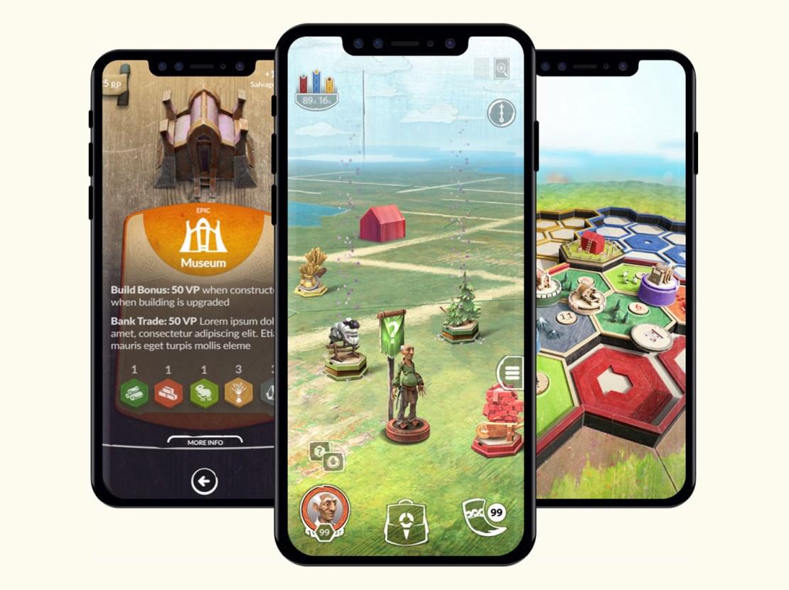"""Zrzuty ekranu z gry mobilnej """"Catan: World Explorers"""""""