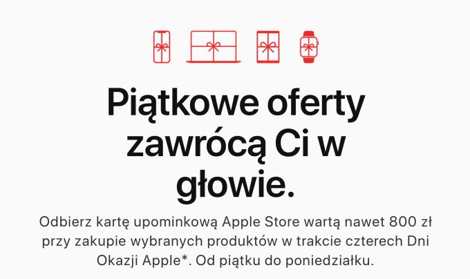 Dni Okazji Apple 2019 (Black Friday)