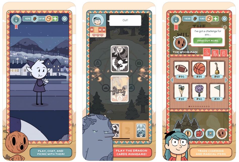 """Zrzuty ekranu z gry mobilnej: """"Hilda Creatures"""""""