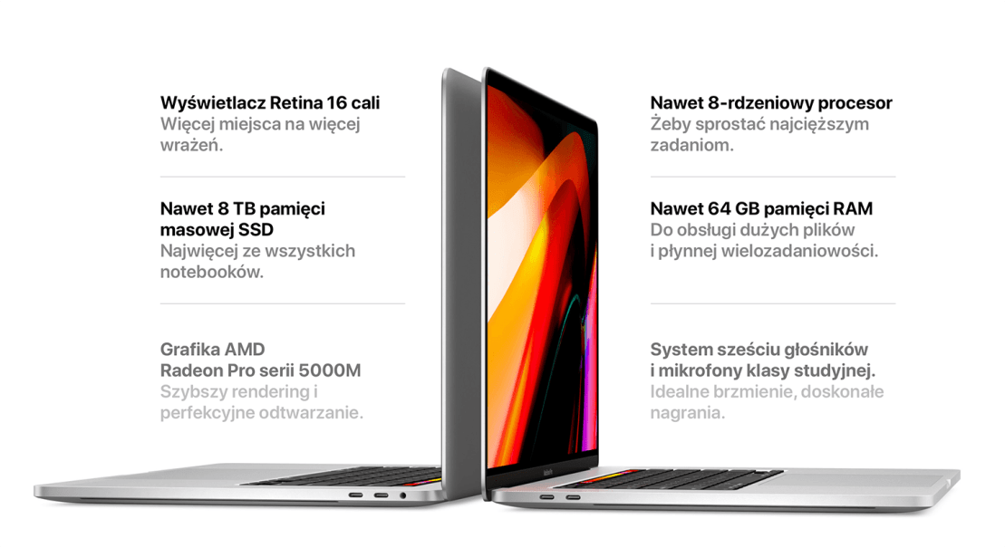 MacBook Pro 16 cali (2019)