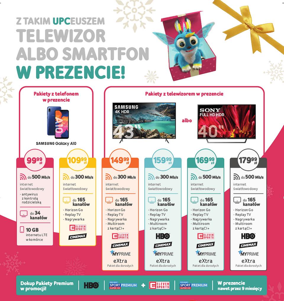 Szczegóły i cennik oferty świątecznej w UPC (2019)