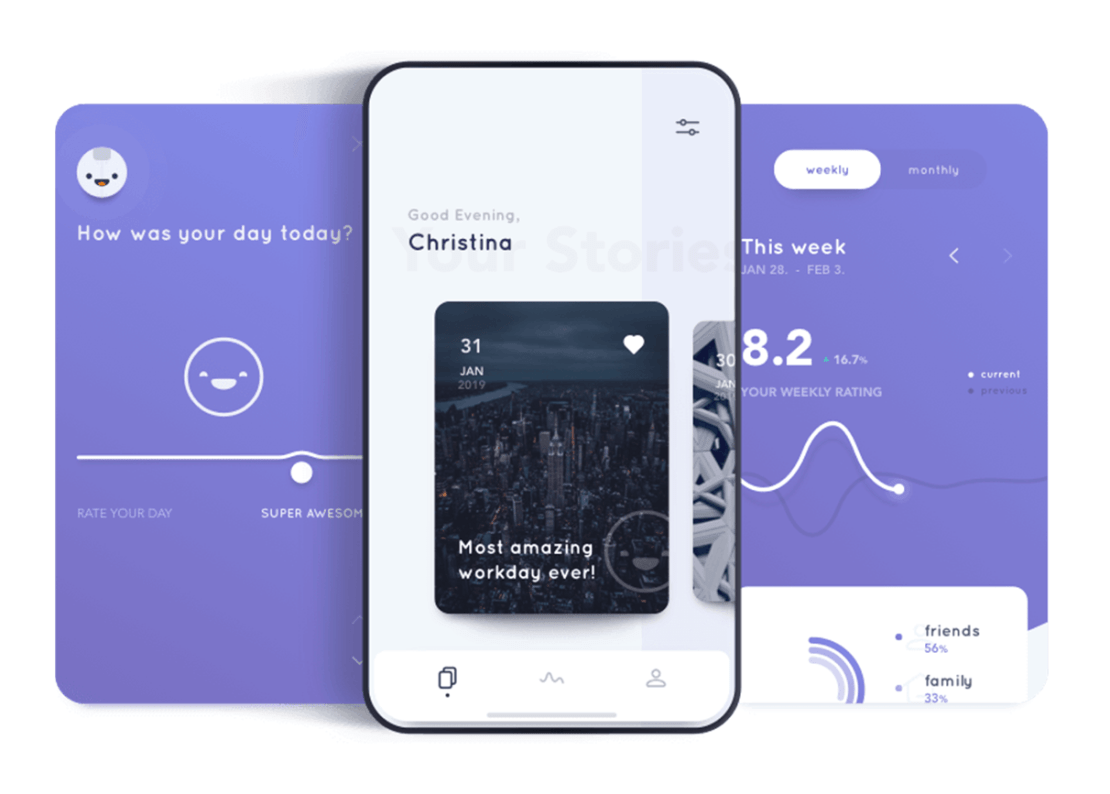 Aplikacja mobilna Reflectly