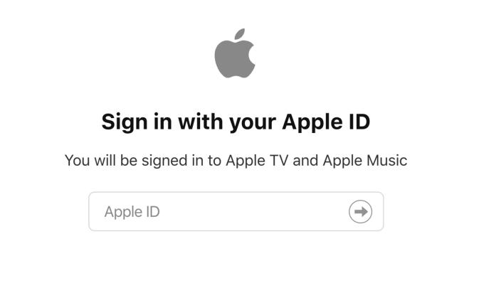 Logowanie za pomocą Apple ID do Apple Music i Apple TV+