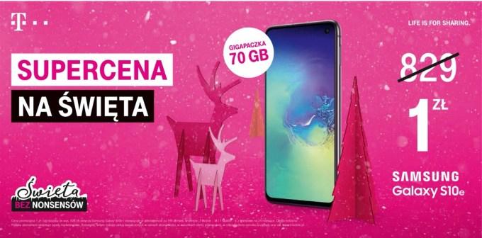Oferta świąteczna w T-Mobile (2019) Samsung S10e