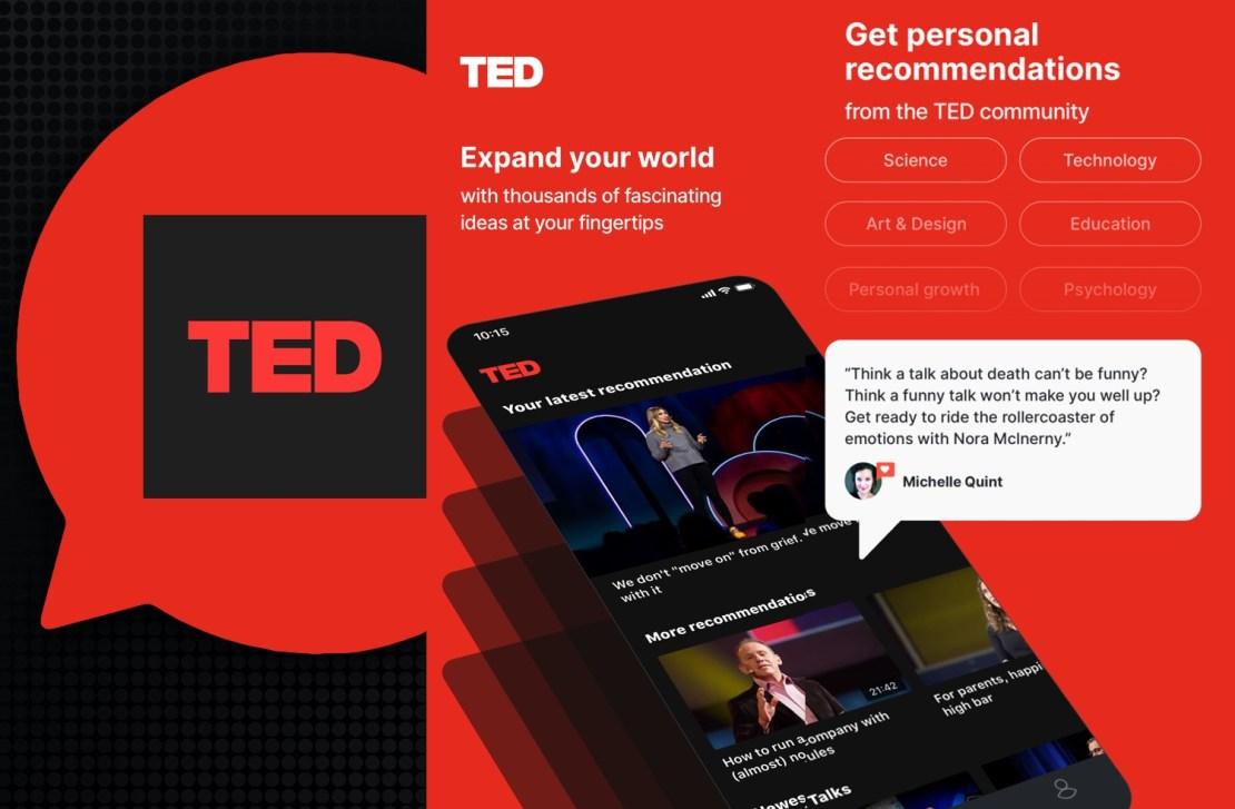 Aplikacja mobilna TED