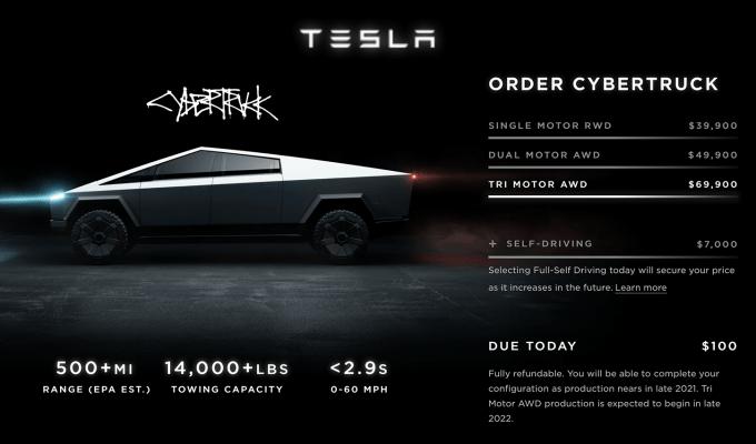 Wstępne rezerwacje na Tesla Cybertruck