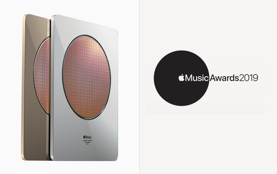 Statuetka i logo Apple Music Awards 2019
