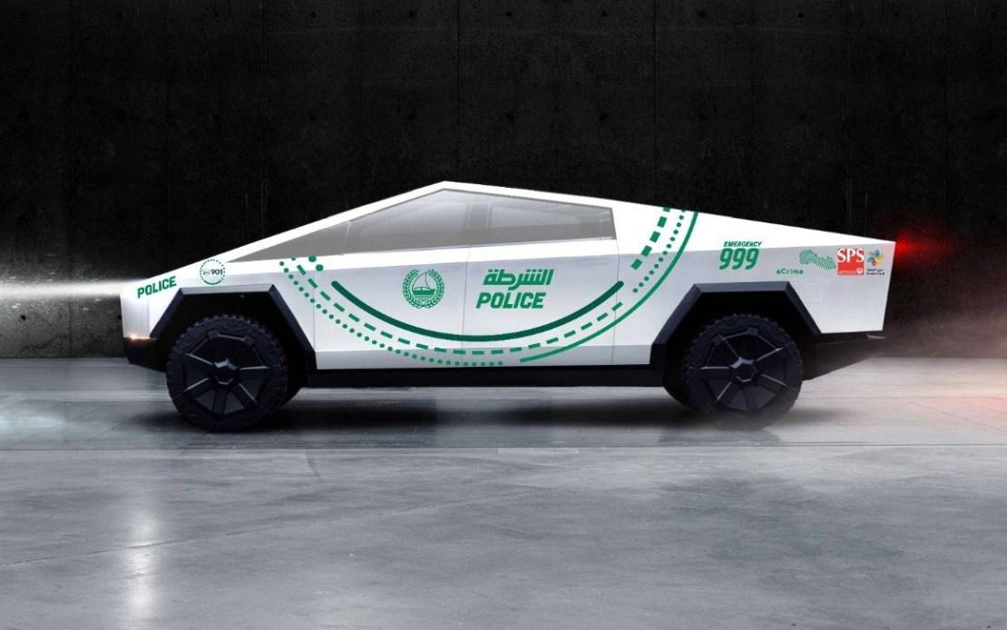 Cybertruck Tesla Policja w Dubaju
