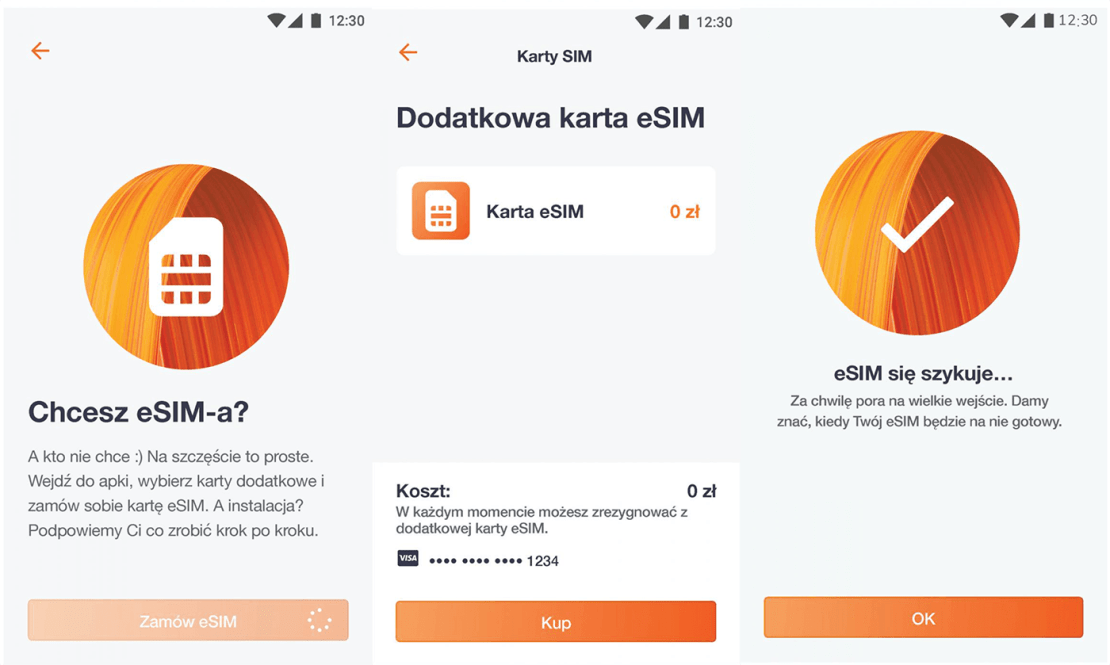 eSIM w Orange Flex