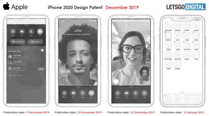 Patent iPhone'a bez wycięcia (5G 2020)