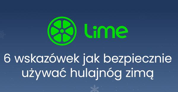 Lime zapytał użytkowników jak być bezpiecznym na hulajnodze zimą