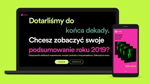 Sprawdź swoje podsumowanie 2019 roku i dekady w Spotify