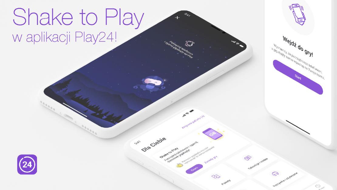 """""""Shake To PLAY"""" w aplikacji Play24!"""