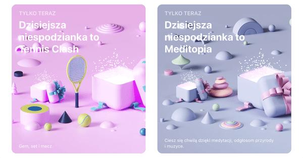 """""""Tennis Clash"""" i """"Meditopia"""" z niespodzianką w sklepie App Store"""