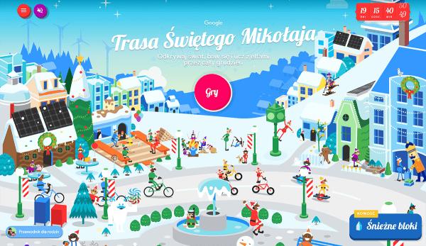 Udaj się wioski Świętego Mikołaja za pomocą Asystenta Google