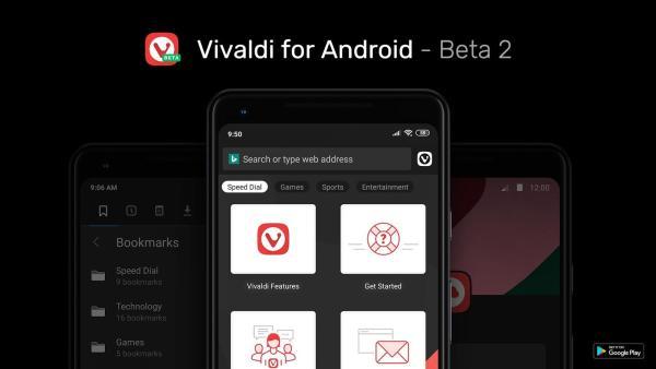 Sprawdź nowości w przeglądarki Vivaldi Beta 2 na Androida