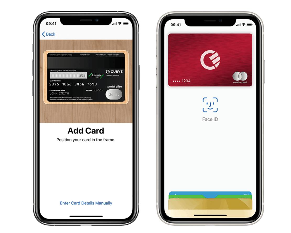 Dodawanie karty Curve do usługi Apple Payu
