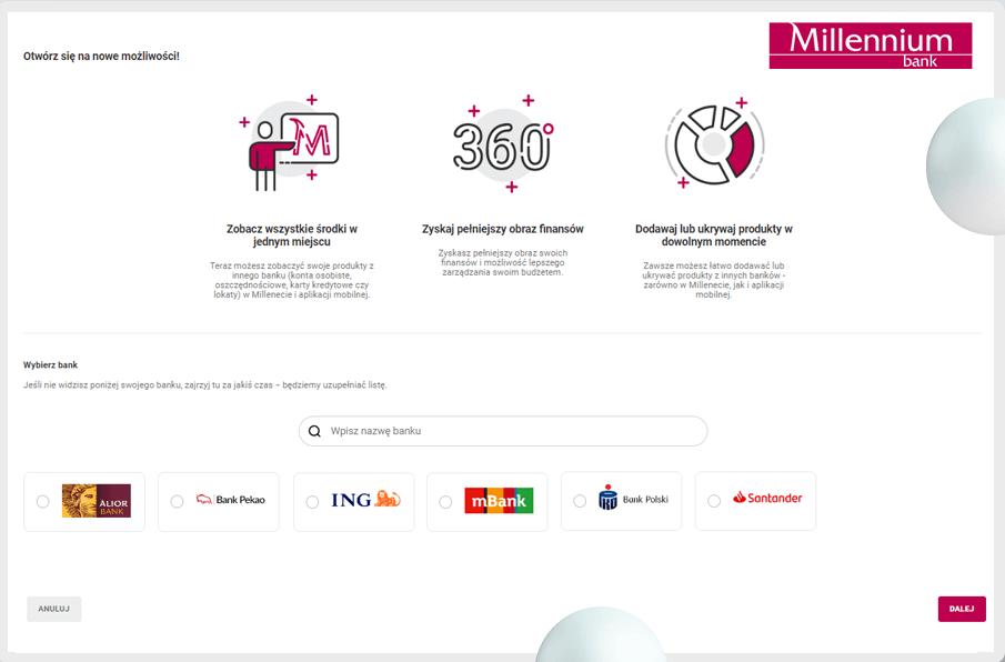 Finanse 360 stopni w Banku Millennium