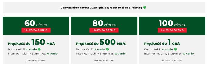 Plus: cennik internetu domowego (styczeń 2020)
