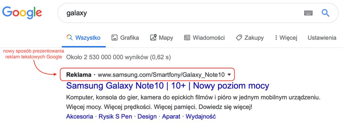 Nowy sposób wyświetlania reklam Google na PC