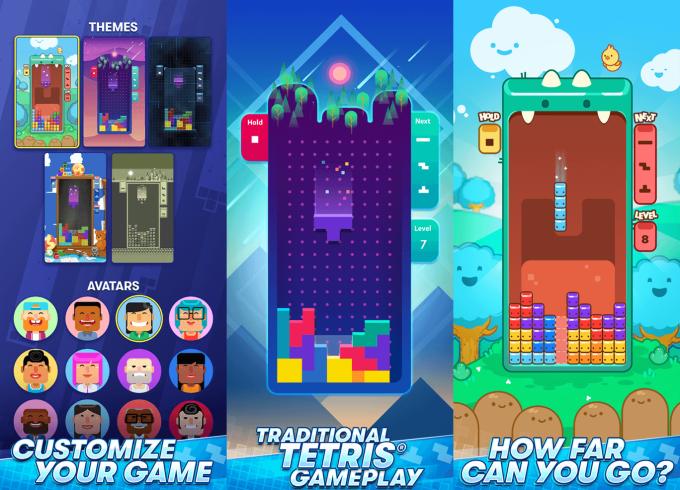 Zrzuty ekranu z gry mobilnej TETRIS od N3TWORK