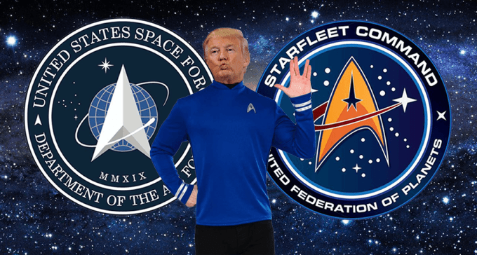 US Space Force logo vs. Star Trek Starfleet
