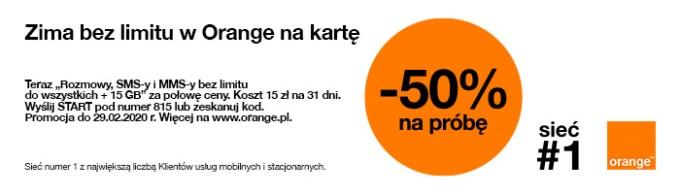 Zima bez limitu w Orange na kartę (2020 r.)