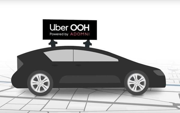 Uber testuje reklamy na dachach swojej floty