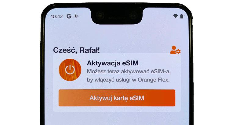 eSIM w Orange Flex na smartfonie z Androidem (Google Pixel)