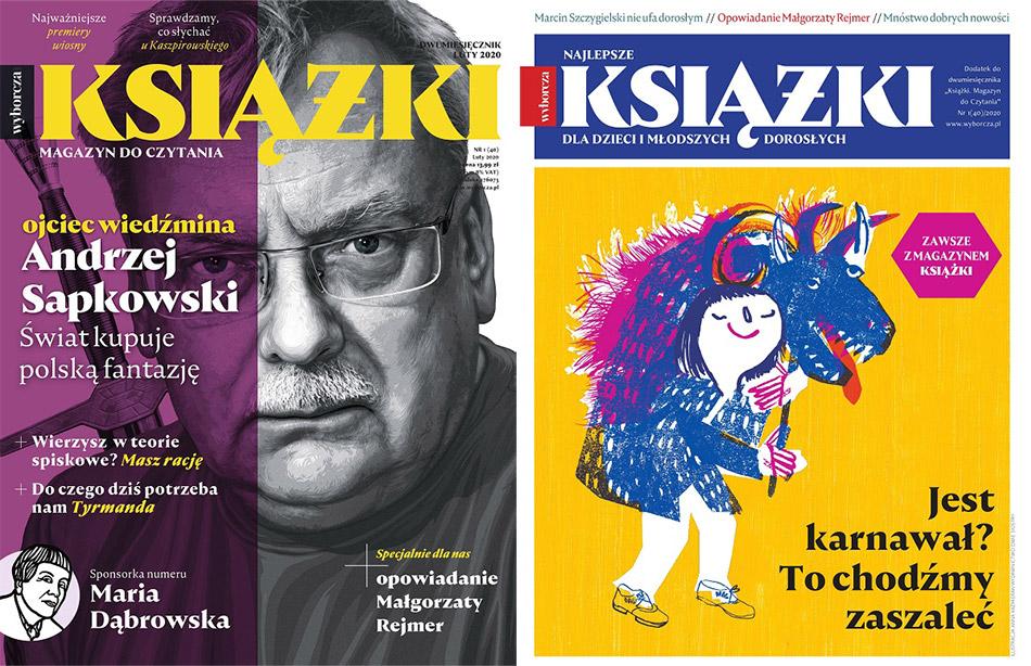 """Okładka czasopisma """"Książki. Magazyn do czytania"""" luty 2020 (Gazeta Wyborcza)"""