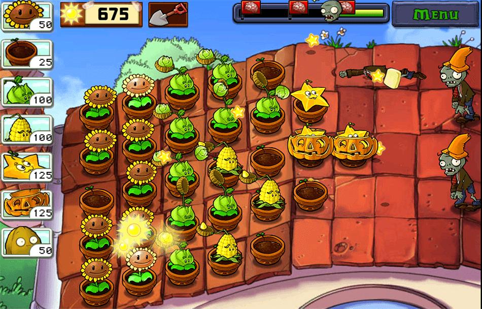 Zrzut ekranu z gry Plants vs. Zombies™