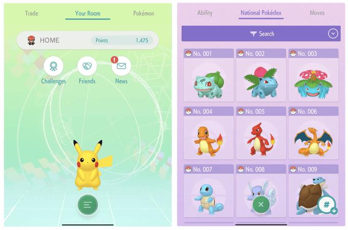 Pokemon Home App - zrzut ekranu