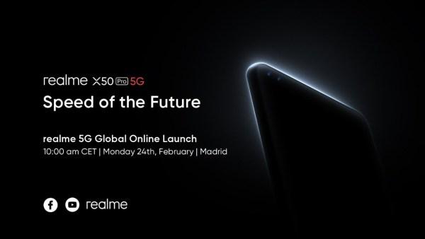 Światowa premiera flagowca realme X50 Pro 5Gjuż 24 lutego!