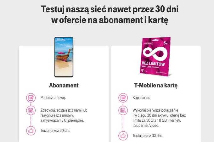 Testuj w T-Mobile przez 30 dni