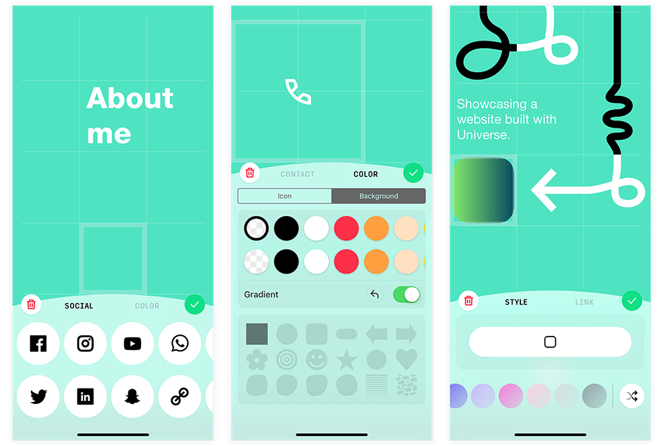 Universe – Website Builder