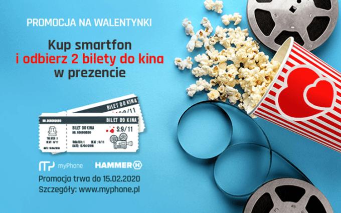 Promocja: kup smartfon na Walentynki i odbierz 2 bilety do kina