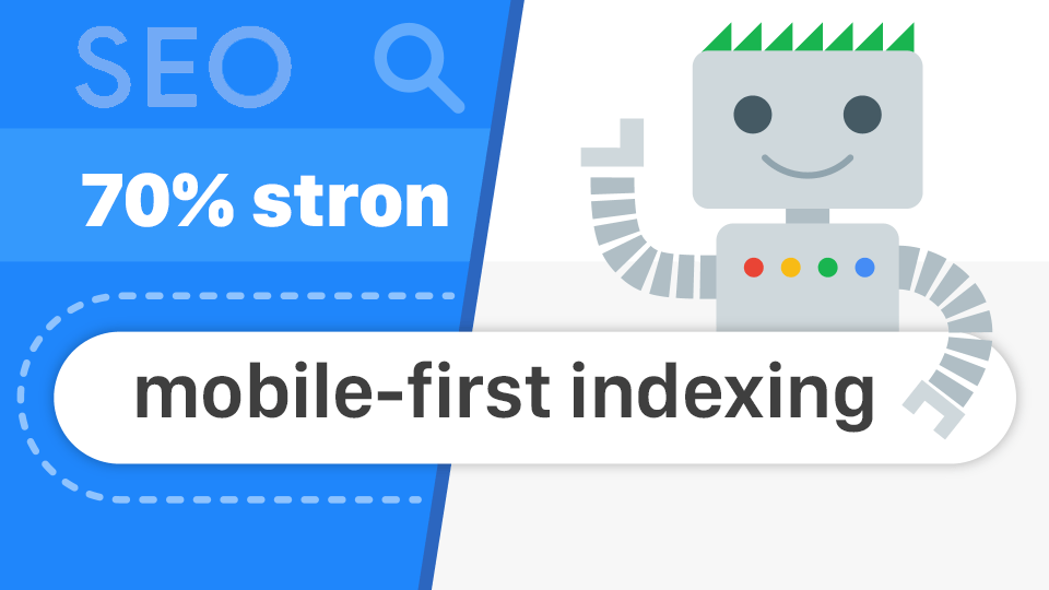 Google mobile-first indexing (progress 70%)