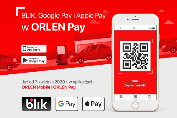 W Orlen Pay zapłacisz za paliwo za pomocą Apple Pay, Google Pay lub BLIKA