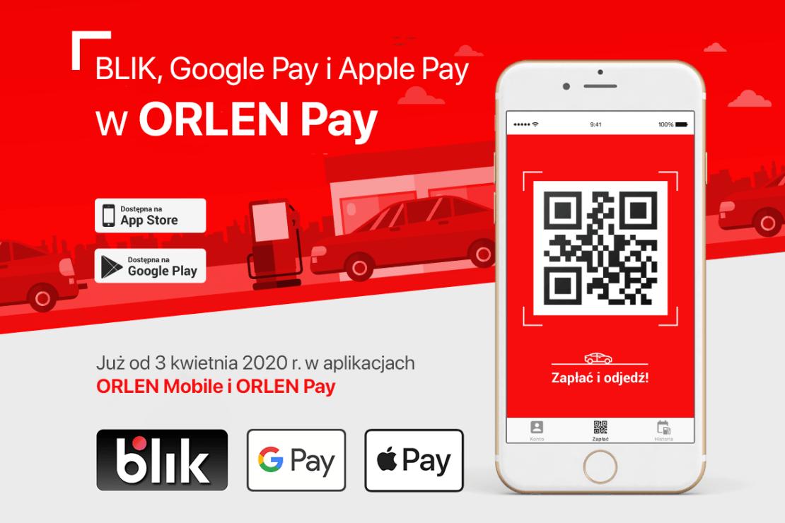 BLIK, Google Pay i Apple Pay w aplikacji ORLEN Pay (Mobile)
