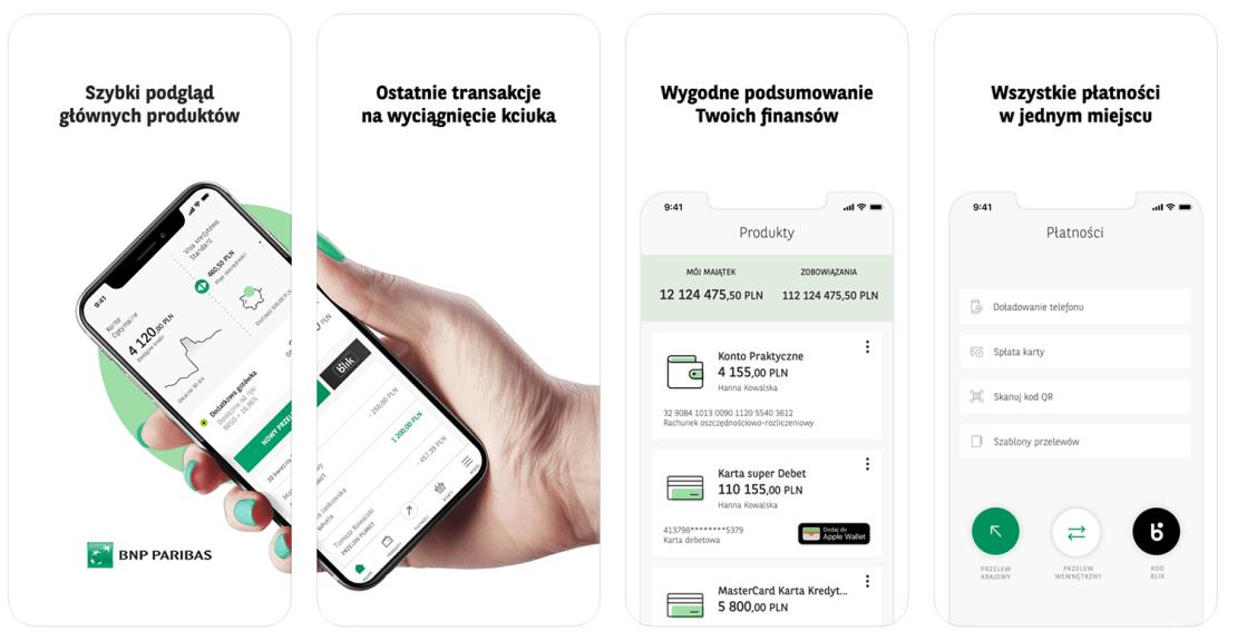 Zrzuty ekranu z aplikacji mobilnej GOmobile