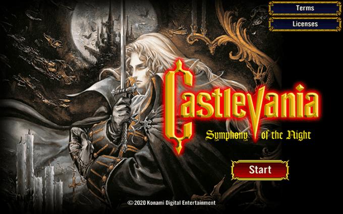 """""""Castlevania: Symphony of the Night"""" gra mobilna"""
