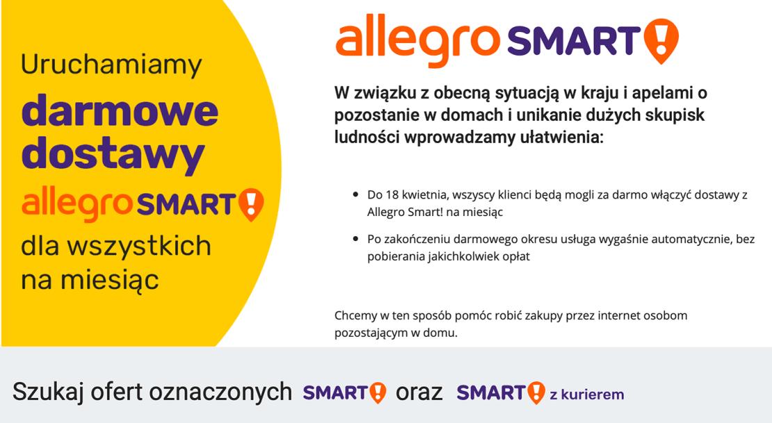 Allegro Smart Teraz Za Darmo Dla Wszystkich Przez Miesiac Mobirank Pl