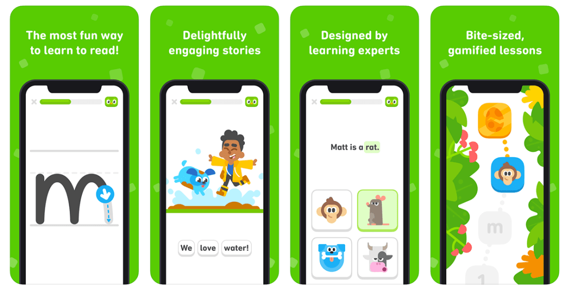 Duolingo ABC - screeny