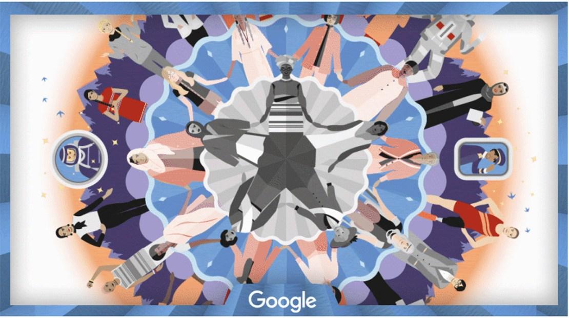 Miedzynarodowy Dzień Kobiet 2020 (Google Doodle)