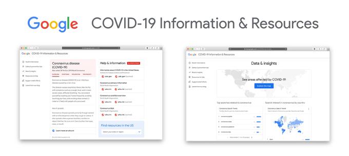 Strona: Google COVID‑19 Information & Resources