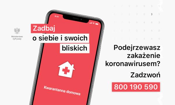 """Rząd udostępnił aplikację """"Kwarantanna domowa"""""""