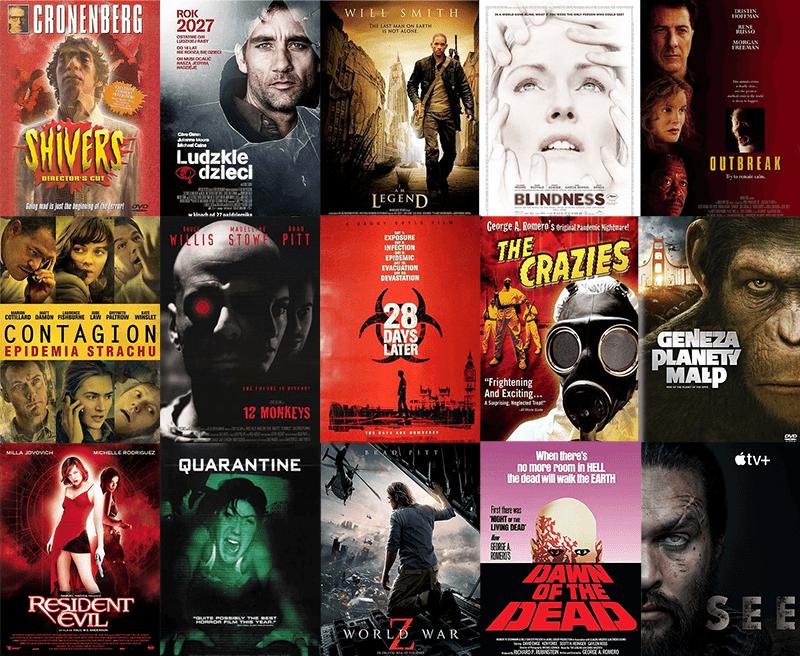 Najlepsze filmy o epidemiach, pandemii i wirusach
