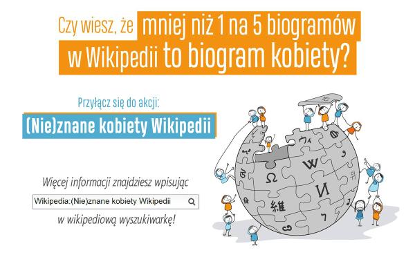 """Przyłącz się do akcji """"(Nie)znane kobiety Wikipedii"""""""